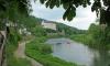 P0229 Burg Bollendorf über der Sauer andere Seite ist Luxemburg