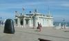 P0721 Santander, kleiner Palast an der Landungsbruecke mit Kunst