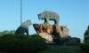 P0728 Baeren-Denkmal kurz hinter Santander