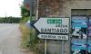 P0935 erstes Straßenschild nach Santiago